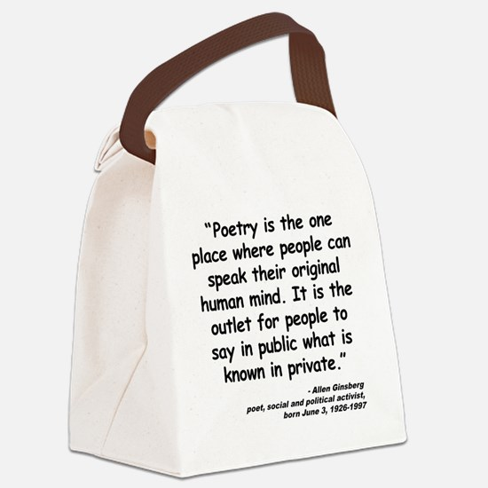 Ginsberg People Quote Canvas Lunch Bag