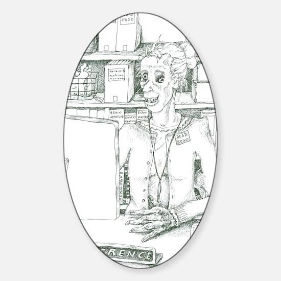 Zombie 2 Sticker (Oval)