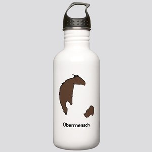 Ubermencshe300Black Stainless Water Bottle 1.0L