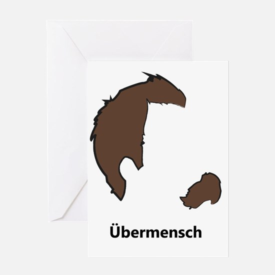 Ubermencshe300Black Greeting Card