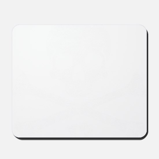 crossbones distressed white Mousepad