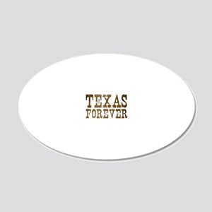 texasforever 20x12 Oval Wall Decal