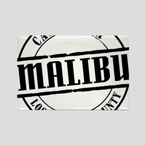 Malibu Title W Rectangle Magnet
