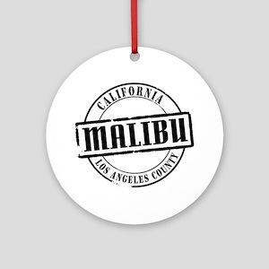 Malibu Title W Round Ornament