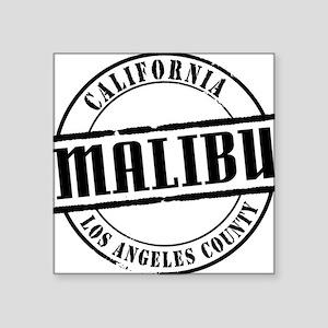 "Malibu Title W Square Sticker 3"" x 3"""
