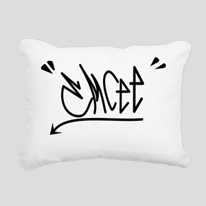 emcee graffiti cafepress Rectangular Canvas Pillow