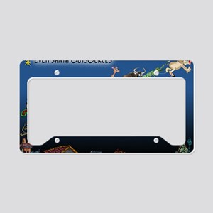 8577_christmas_cartoon_wide License Plate Holder