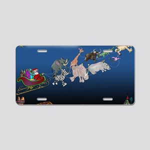 8577_christmas_cartoon_wide Aluminum License Plate