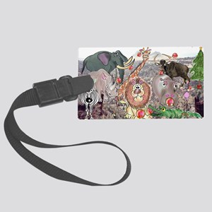 8575_africa_cartoon_wide Large Luggage Tag