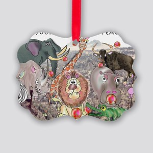 8575_africa_cartoon_wide Picture Ornament