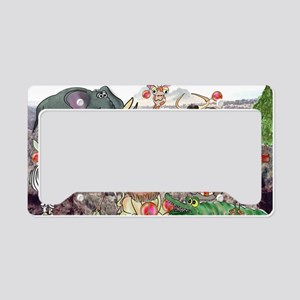 8575_africa_cartoon_wide License Plate Holder