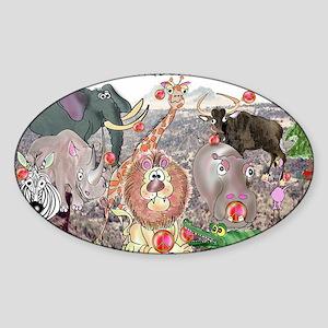 8575_africa_cartoon_wide Sticker (Oval)