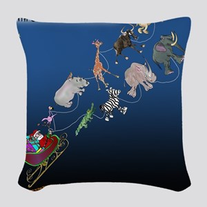 8577_christmas_cartoon Woven Throw Pillow