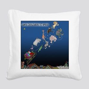 8577_christmas_cartoon Square Canvas Pillow