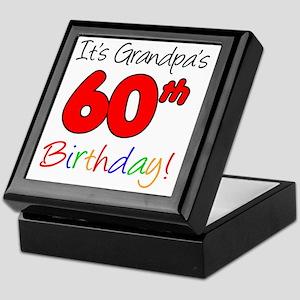 Its Grandpas 60th Birthday Keepsake Box