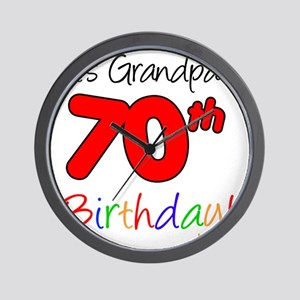 Its Grandpas 70th Birthday Wall Clock