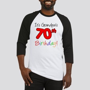 Its Grandpas 70th Birthday Baseball Jersey