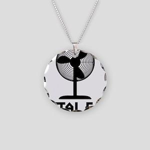 metal fanA Necklace Circle Charm