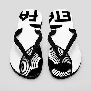 metal fanA Flip Flops