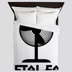metal fanA Queen Duvet