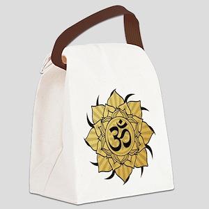 aum-gold Canvas Lunch Bag