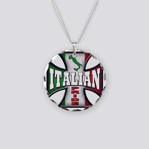 Italian Pride Necklace Circle Charm