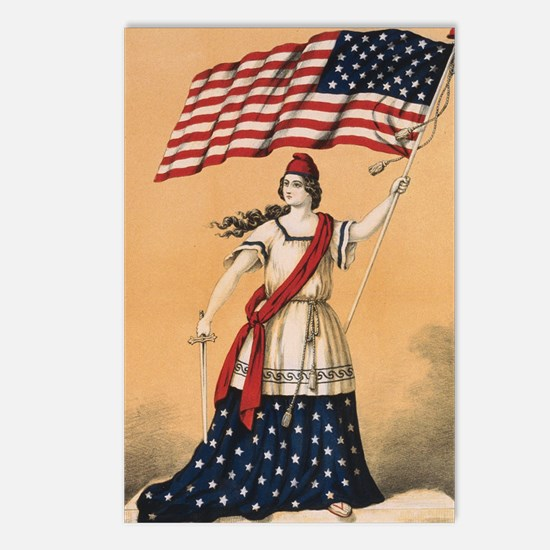 Stars and Stripes Postcards (Package of 8)