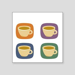 "coffeetodolistdark Square Sticker 3"" x 3"""