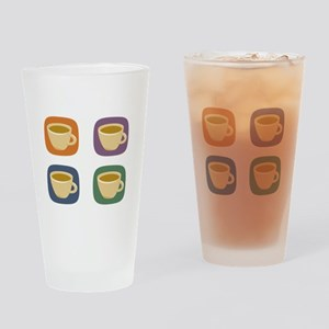 coffeetodolistdark Drinking Glass