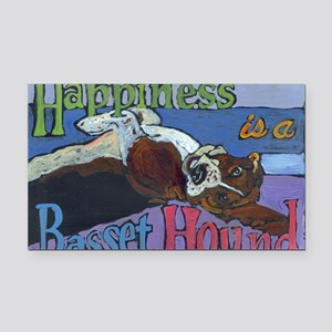 Happiness is a Basset Hound Rectangle Car Magnet