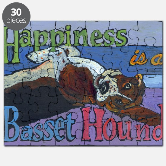 Happiness is a Basset Hound Puzzle