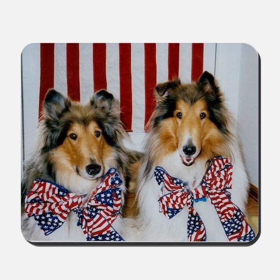 Patriotic Collies Mousepad