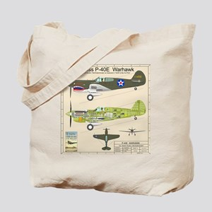 P-40_Co-Pilot_Back Tote Bag