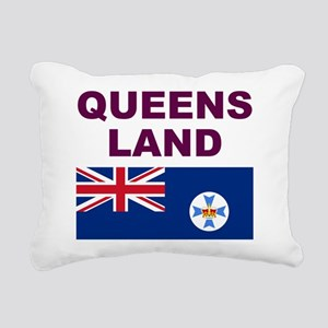 QLD-Maroon-Light Rectangular Canvas Pillow