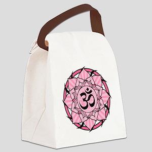 aum-pink Canvas Lunch Bag