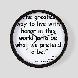 Socrates Live Quote Wall Clock