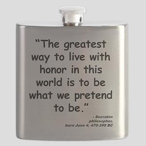 Socrates Live Quote Flask