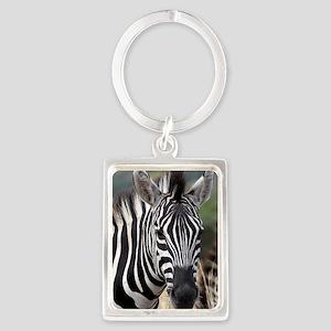 single zebra Portrait Keychain