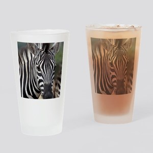 single zebra Drinking Glass