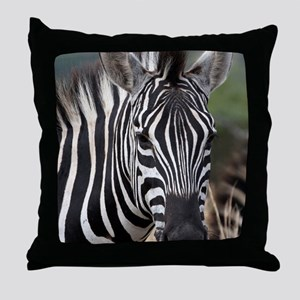 single zebra Throw Pillow