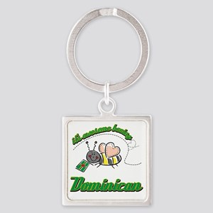 dominican-white Square Keychain