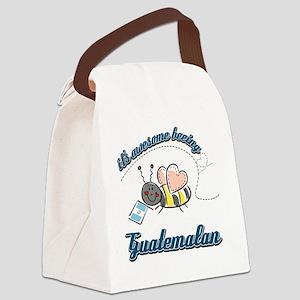 guatemalan-white Canvas Lunch Bag