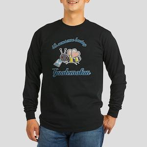 guatemalan-white Long Sleeve Dark T-Shirt