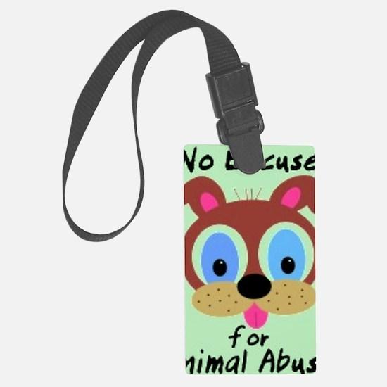 Animal Abuse Luggage Tag