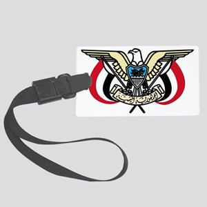 Coat_of_Arms_Republic_of_Yemen Large Luggage Tag