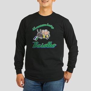 lesothoan-white Long Sleeve Dark T-Shirt