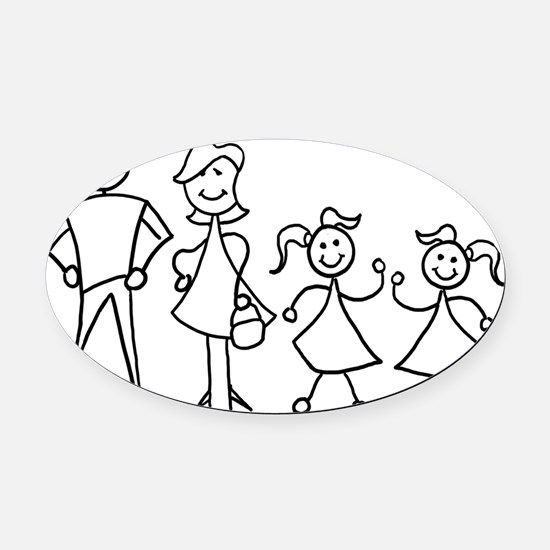 fam_MDGG Oval Car Magnet
