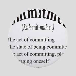 commitment Round Ornament