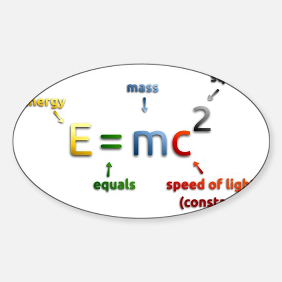 Mass-Energy_Equivalence_Formula_2_b Sticker (Oval)
