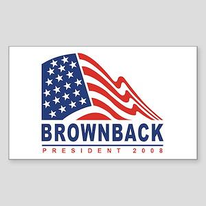 Sam Brownback - President 200 Sticker (Rectangular
